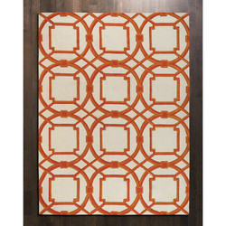 Arabesque Rug - Coral - 6' x 9'