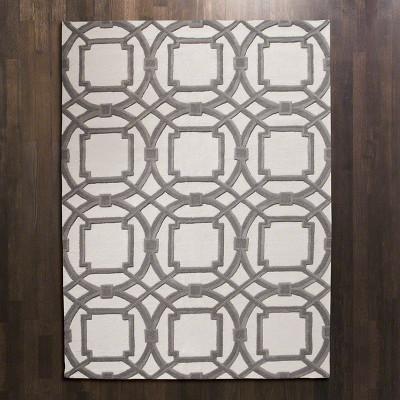 Arabesque Rug - Grey/Ivory - 6' x 9'
