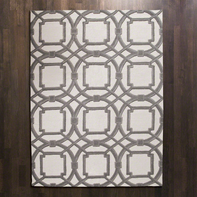 Arabesque Rug - Grey/Ivory - 8' x 10'