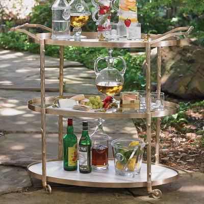 Arbor Bar Cart - Brass