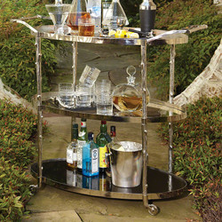 Arbor Bar Cart - Nickel