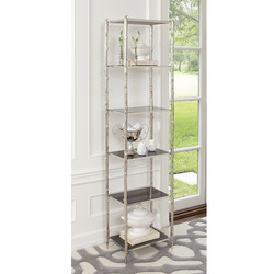 Arbor Etagere - Nickel & Black Granite