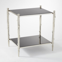 Arbor Side Table - Nickel & Black Granite