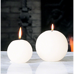 Ball Candle - Unscented - 3""