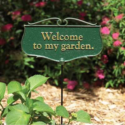 """""""Welcome to my Garden"""" Plaque main image"""