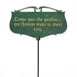"""Come into the Garden..."" Plaque main image"