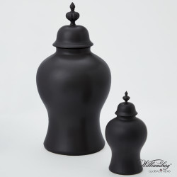 Beaufort Ginger Jar - Matte Black - Lg