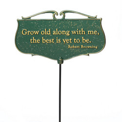 """Grow old along with me..."" Plaque main image"