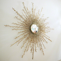 Berries Mirror - Brass