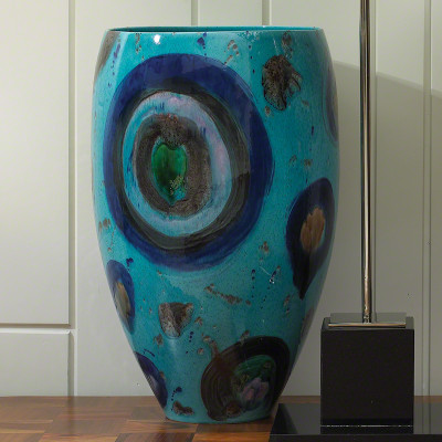 Blue Spots Vase