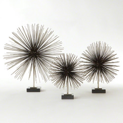 Boom Tabletop Sculpture - Nickel - Med