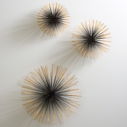 Boom Wall Sculpture - Brass - Lg