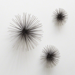 Boom Wall Sculpture - Nickel - Med