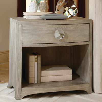 Bow Front 1 Drawer Chest - Grey