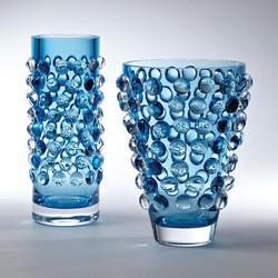 Bubble Cylinder Vase - Cobalt