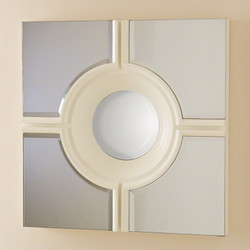 Bull's Eye Cross Mirror - White