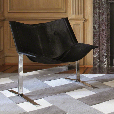 Cantilever Chair - Hair - on - Hide - Black