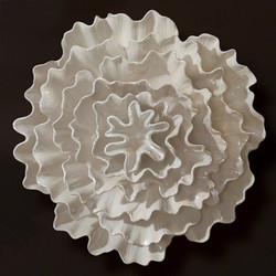Carnation Wall Flower - Pearl White