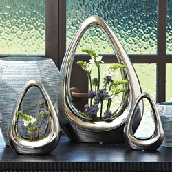 Carry About Vase - Silver - Lg