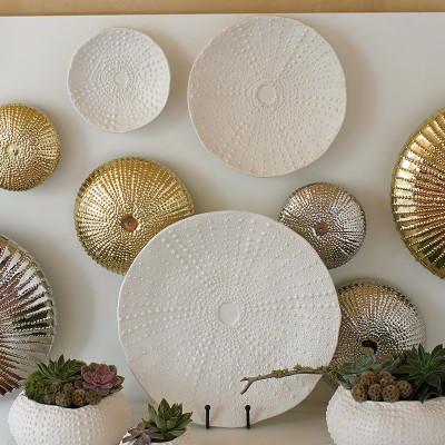 Ceramic Urchin Platter - Matte White - Med
