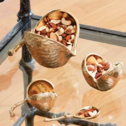 Chestnut Bowl - Brass - Lg
