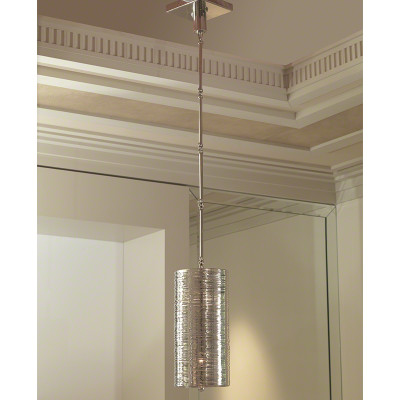 Coil Single Pendant - Polished Nickel