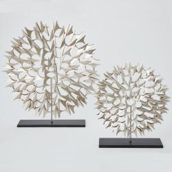 Cosmos Sculpture - Nickel - Lg
