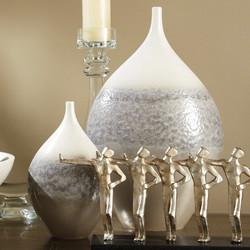 Cream Rises Vase - Wide - Lg