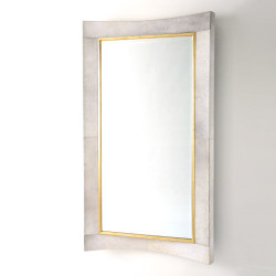 Curved Floor Mirror - White Hair - On - Hide