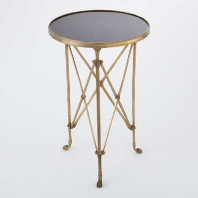 Directoire Table - Brass & Black Granite