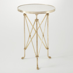 Directoire Table - Brass & White Marble