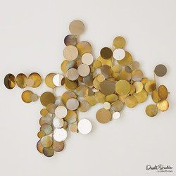 Dot Wall Decor - Brass/Gold