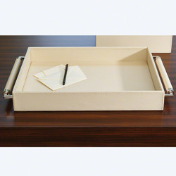 Double Handle Serving Tray - Ivory