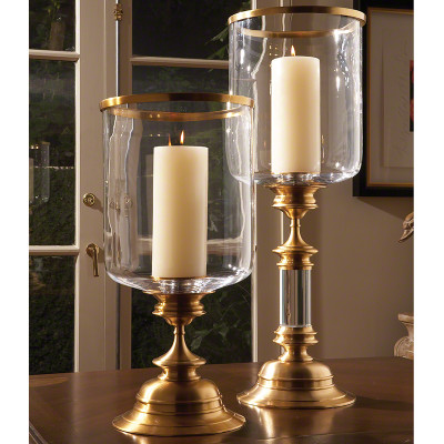 Estate Hurricane - Antique Brass - Tall