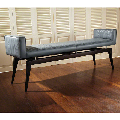 Faux Bois City Bench - Grey