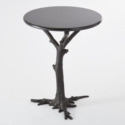 Faux Bois Side Table