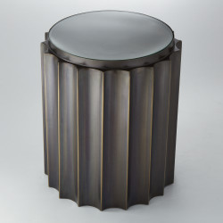 Fluted Column Table - Bronze