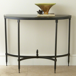 Fluted Iron Collection Console w/Granite