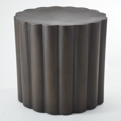Fluted Table - Antique Bronze Finish