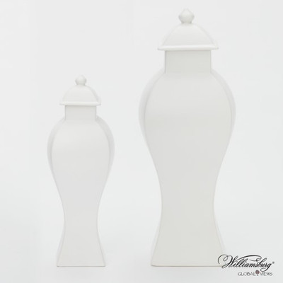 Garniture Urn - Matte White - Sm