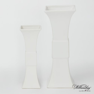 Garniture Vase - Matte White - Lg