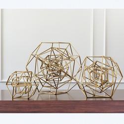 Geo Sculpture - Gold - Lg