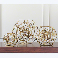 Geo Sculpture - Gold - Med
