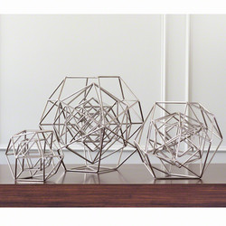 Geo Sculpture - Nickel - Med