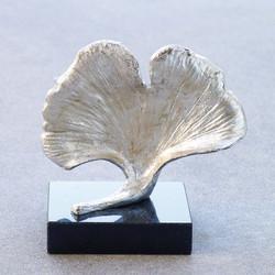 Ginkgo Leaf Objet - Silver