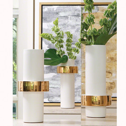 Gold Ring Vase - Low