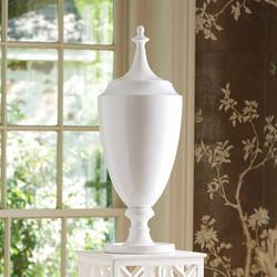 Grande Urn w/Lid - White