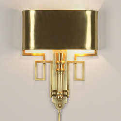 Hardwired Antique Brass Torch Sconce