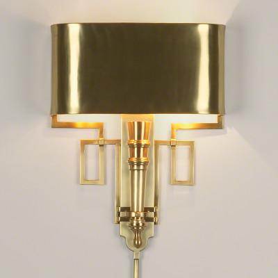 Hardwired Antique Brass Torch Sconce