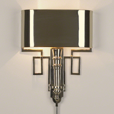 Hardwired Nickel Torch Sconce